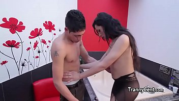 plays brunette cash with cock for cute Measure penis cock