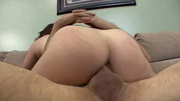 couch interracial brunette German office forced