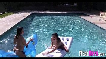 hustlers pool party Arab forced porn