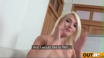 joleyn casting burst Blonde girl masturbates with her purple dildo at home