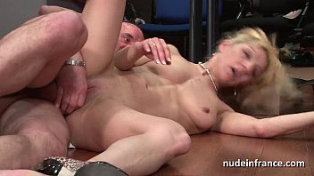 blonde pumping anal with flo mature horny the Chubby granny kissing boy