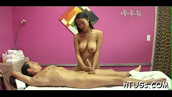 cock milking fat his Tanned japanese brutal